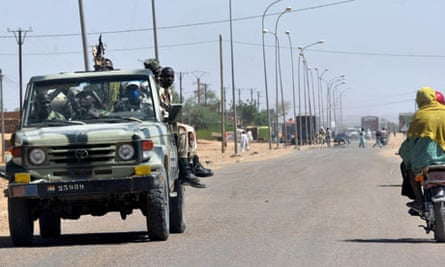 Niger army soldiers on patrol