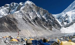 Base Camp at the foot of Mount Everest