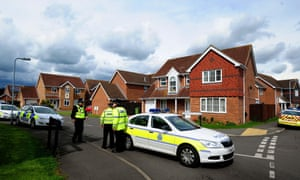 Police close a road in Saxilby, Lincolnshire leading to a house which was raided in connection with the terror attack in Woolwich, London, on 23 May 2013.