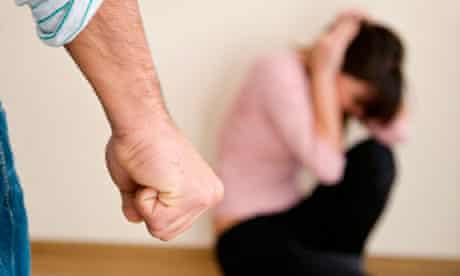 Domestic violence: man threatening woman