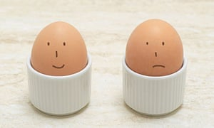 Two Eggs with Drawn-On Faces