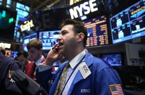 Traders work on the floor of the New York Stock Exchange (NYSE) on May 23, 2013 in New York City.
