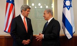 U.S. Secretary of State Kerry meets with Israeli Prime Minster Netanyahu in Jerusalem