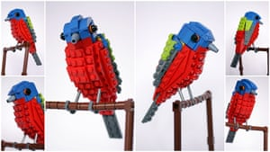 Lego Birds: North America: Peter the painted Bunting