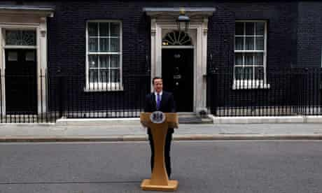 David Cameron gives a statement following a special Cobra meeting following the attack in Woolwich