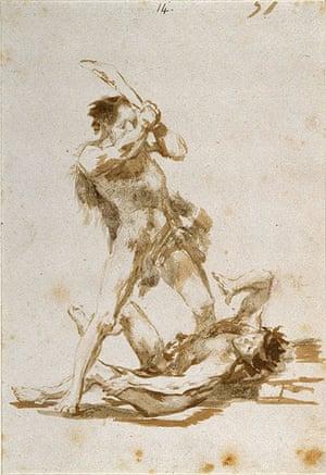 Old master drawings: Francisco José de Goya y Lucientes (1746-1828). Two Men Fighting