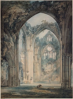 Old master drawings: James Mallord William Turner (1775-1851) The Transept of Tintern Abbey