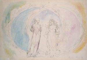 Old master drawings: Beatrice and Dante in Gemini