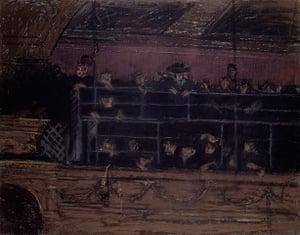 Old master drawings: Walter Sickert (1860-1942), Noctes Ambrosianae. Pastel