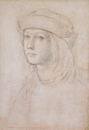 Old master drawings: Raphael (1483-1520), Self Portrait