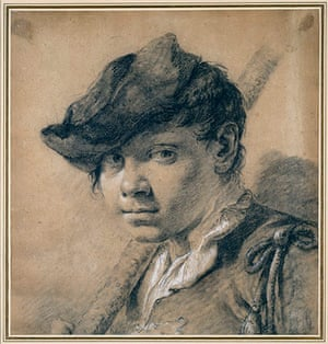Old master drawings: Giambattista Piazzetta (1682-1754), Head of a Youth
