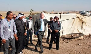 William Hague visits E1, the site of a proposed Israeli settlement