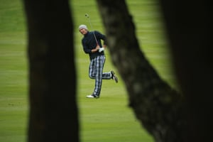 Marcel Siem of Germany plays his second shot on the third hole during the second round of the BMW PGA Championship on the West Course at Wentworth in Virginia Water, England.