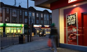 Betting shops are more concentrated on urban high streets.