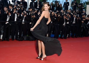 Izabel Goulart attends the 'The Immigrant' premiere during The 66th Annual Cannes Film Festival at the Palais des Festivals in Cannes, France.