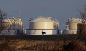 The Liquefied Natural Gas terminal on the Isle of Grain near London