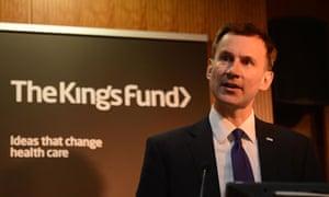 Jeremy Hunt King's Fund