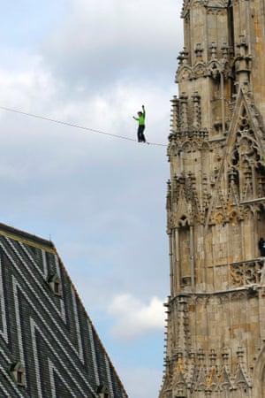 tightrope walk in Vienna