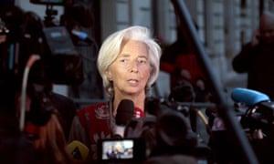 Christine Lagarde microphone