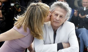 Emmanuelle Seigner and Roman Polanski at the photocall for Venus in Fur