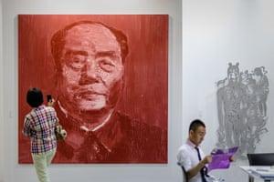 Art Basel: 'Portrait Officiel Rouge' by Yan Pei-Ming
