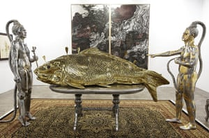 Art Basel: 'Feast Table: Undecleared Perceptions, 2012' by Entang Wiharso