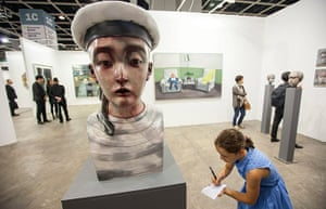 Art Basel: 'Child Sailor' 2013 by Chinese artist Zhang Xiaogang