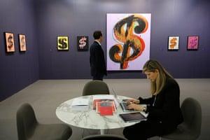 "Art Basel: 'Dollar Sign"" by Andy Warhol"