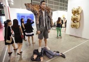 Art Basel: 'Aztec Pattern' by South Korean artist Osang Gwon