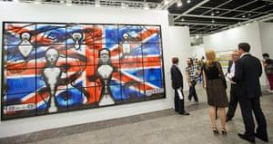 Art Basel: 'Jacksie' 2008 by British artist duo Gilbert and George