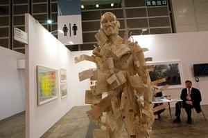Art Basel: 'Man Loses History' by South African artist Clive Van Den Berg