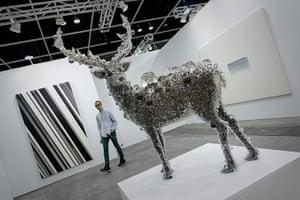 Art Basel: PixCell-Deer #32 by Kohei Nawa