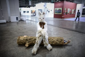 Art Basel: 'Log Lady and Dirty Bunny' by Marnie Weber