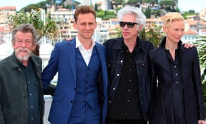 John Hurt, Tom Hiddleston, Jim Jamursch and Tilda Swinton promote Only Lovers Left Alive in Cannes