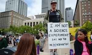 Anti-GM protester
