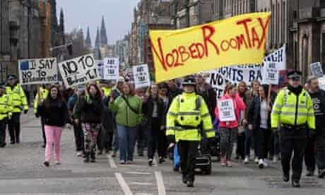 Demonstration against the 'Bedroom Tax', Edinburgh, Scotland, Britain - 30 Mar 2013