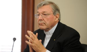 Cardinal George Pell appears at the Victorian Government inquiry into child abuse in Melbourne.