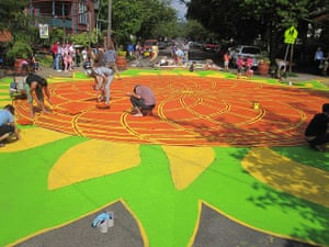 Portland street art: sunflower