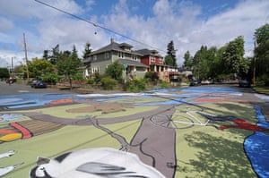 Portland street art: The largest street painting in Portland