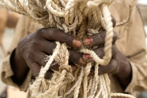 FTA: Siegfried Modola : A camel herder and salt merchant holds rope