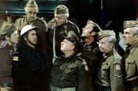 Bill Pertwee, second left, with the cast of Dad's Army