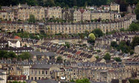 Rows of houses in Bath