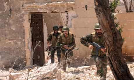 Syrian forces loyal to President Bashar al-Assad, in Aleppo