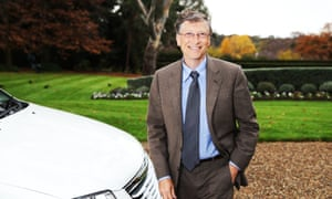 Bill Gates arrives at the lodge