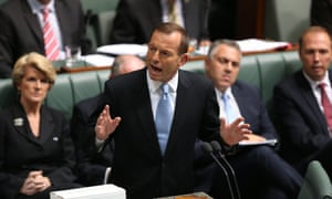 The Leader of the Opposition Tony Abbott. Question Time in the House of Representatives.