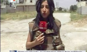 An image grab taken from Syrian state TV shows Yara Abbas, who was killed reporting on the army's assault on Qusair.