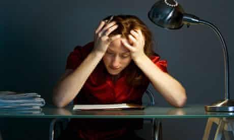 stressed female worker