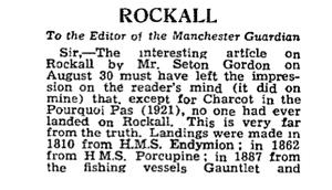 Rockall letter