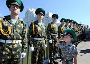 Starting young: Belarus Border Guards celebrate their agency's day  in Minsk.