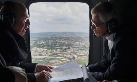 Israel defence secretary, Moshe Ya'alon, with his US counterpart, Chuck Hagel